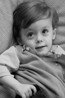 Dylan, a young child with Canavan disease